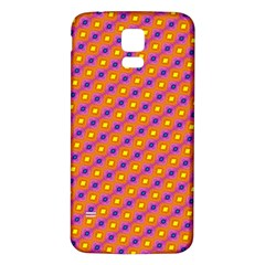 Vibrant Retro Diamond Pattern Samsung Galaxy S5 Back Case (White)