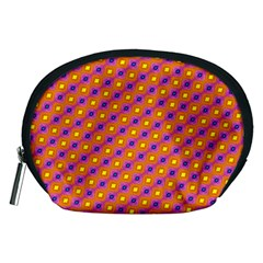 Vibrant Retro Diamond Pattern Accessory Pouches (Medium)