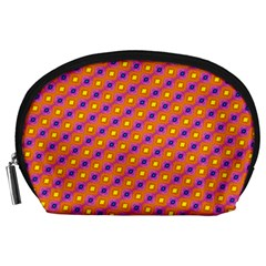 Vibrant Retro Diamond Pattern Accessory Pouches (Large)