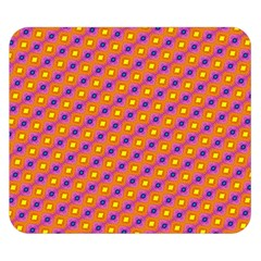Vibrant Retro Diamond Pattern Double Sided Flano Blanket (Small)