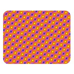 Vibrant Retro Diamond Pattern Double Sided Flano Blanket (Large)