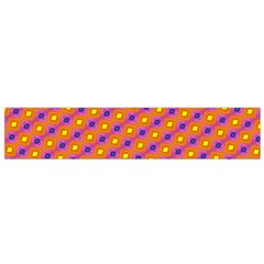 Vibrant Retro Diamond Pattern Flano Scarf (Small)
