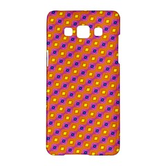 Vibrant Retro Diamond Pattern Samsung Galaxy A5 Hardshell Case  by DanaeStudio