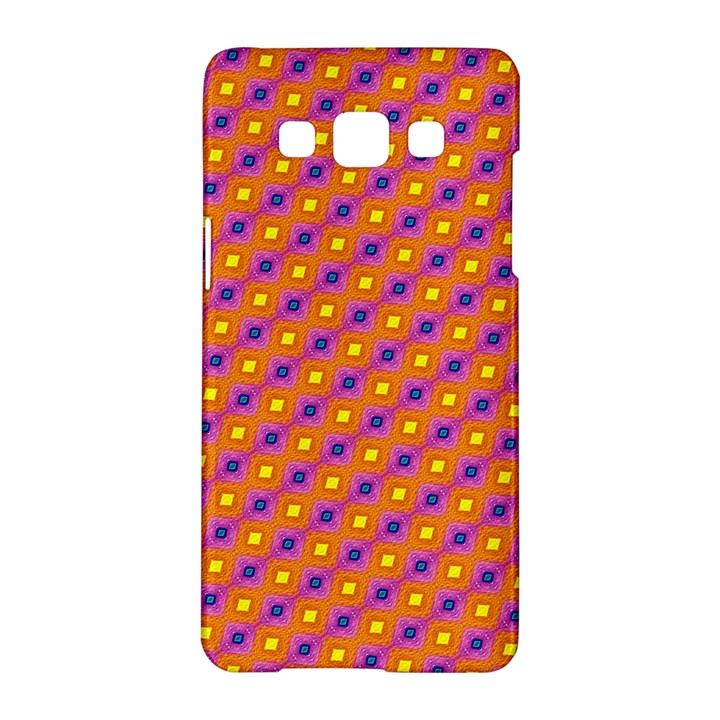 Vibrant Retro Diamond Pattern Samsung Galaxy A5 Hardshell Case