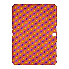 Vibrant Retro Diamond Pattern Samsung Galaxy Tab 4 (10 1 ) Hardshell Case  by DanaeStudio