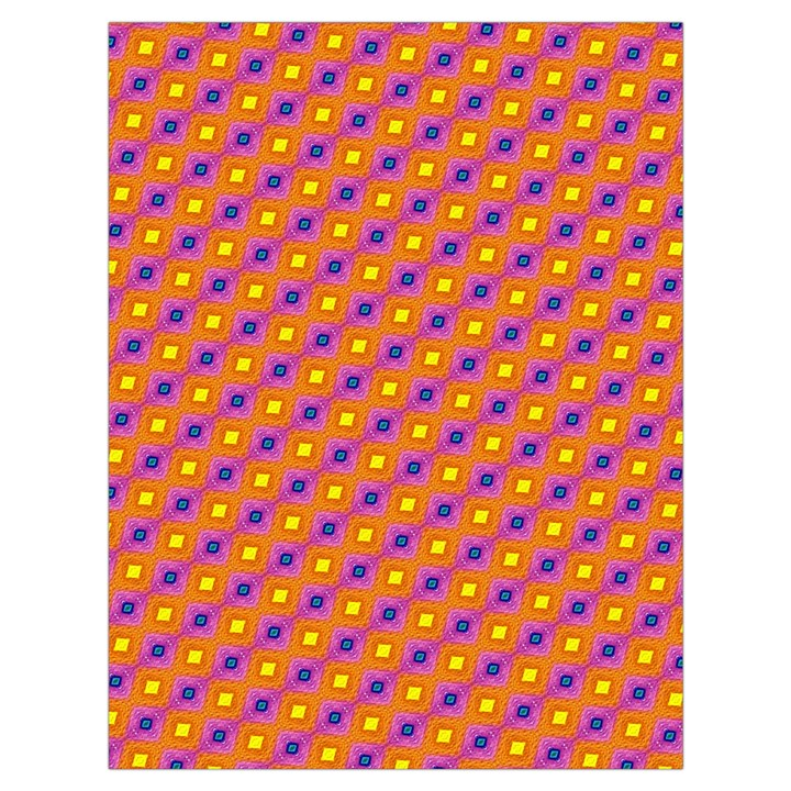 Vibrant Retro Diamond Pattern Drawstring Bag (Large)