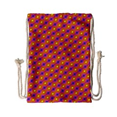 Vibrant Retro Diamond Pattern Drawstring Bag (Small)