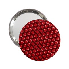 Red Passion Floral Pattern 2 25  Handbag Mirrors by DanaeStudio