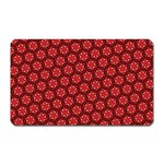 Red Passion Floral Pattern Magnet (Rectangular) Front