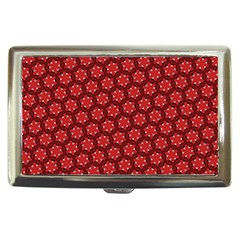 Red Passion Floral Pattern Cigarette Money Cases by DanaeStudio