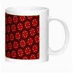 Red Passion Floral Pattern Night Luminous Mugs Right