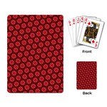 Red Passion Floral Pattern Playing Card Back