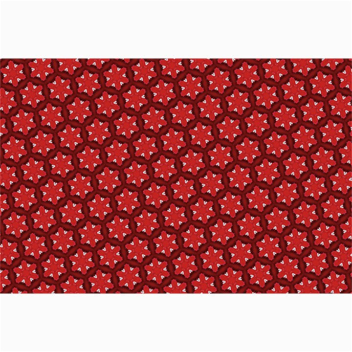 Red Passion Floral Pattern Collage Prints