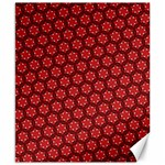 Red Passion Floral Pattern Canvas 8  x 10
