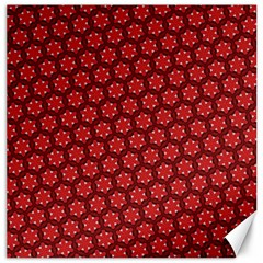 Red Passion Floral Pattern Canvas 12  X 12   by DanaeStudio