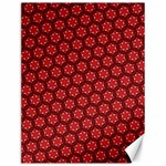 Red Passion Floral Pattern Canvas 12  x 16