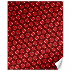 Red Passion Floral Pattern Canvas 16  X 20   by DanaeStudio