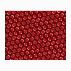 Red Passion Floral Pattern Small Glasses Cloth (2 Side) by DanaeStudio