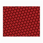Red Passion Floral Pattern Small Glasses Cloth (2-Side) Front