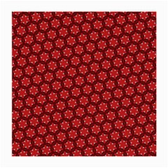 Red Passion Floral Pattern Medium Glasses Cloth by DanaeStudio