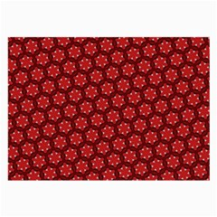 Red Passion Floral Pattern Large Glasses Cloth (2 Side) by DanaeStudio