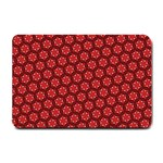 Red Passion Floral Pattern Small Doormat