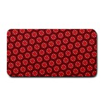 Red Passion Floral Pattern Medium Bar Mats