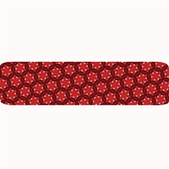 Red Passion Floral Pattern Large Bar Mats by DanaeStudio