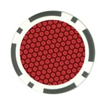 Red Passion Floral Pattern Poker Chip Card Guards