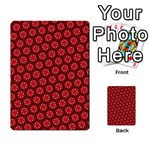 Red Passion Floral Pattern Multi-purpose Cards (Rectangle)  Front 10