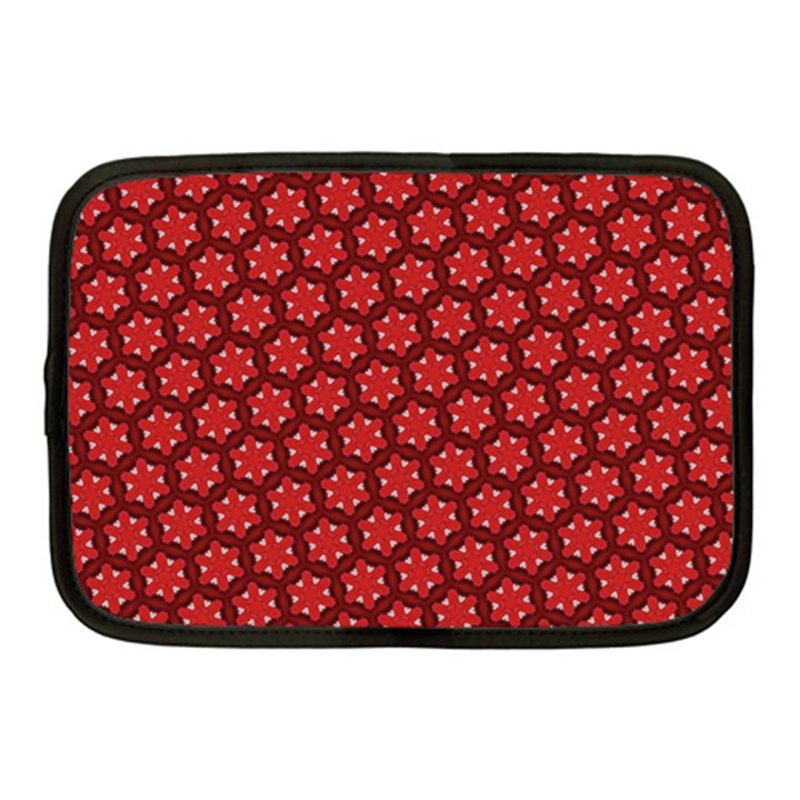 Red Passion Floral Pattern Netbook Case (Medium)
