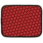 Red Passion Floral Pattern Netbook Case (Large)