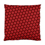 Red Passion Floral Pattern Standard Cushion Case (One Side)