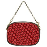 Red Passion Floral Pattern Chain Purses (Two Sides)  Front