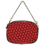 Red Passion Floral Pattern Chain Purses (Two Sides)  Back