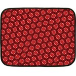 Red Passion Floral Pattern Fleece Blanket (Mini) 35 x27 Blanket