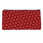 Red Passion Floral Pattern Pencil Cases