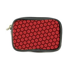 Red Passion Floral Pattern Coin Purse