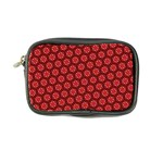 Red Passion Floral Pattern Coin Purse Front