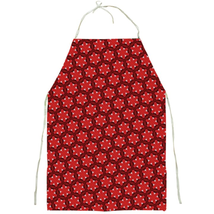 Red Passion Floral Pattern Full Print Aprons