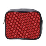 Red Passion Floral Pattern Mini Toiletries Bag 2-Side