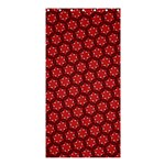 Red Passion Floral Pattern Shower Curtain 36  x 72  (Stall)