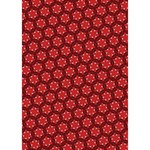 Red Passion Floral Pattern Ribbon 3D Greeting Card (7x5) Inside