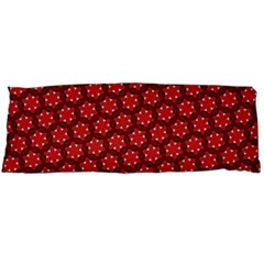 Red Passion Floral Pattern Body Pillow Case (dakimakura) by DanaeStudio