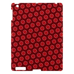 Red Passion Floral Pattern Apple Ipad 3/4 Hardshell Case by DanaeStudio