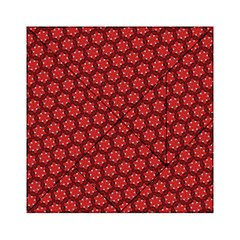 Red Passion Floral Pattern Acrylic Tangram Puzzle (6  X 6 ) by DanaeStudio
