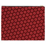 Red Passion Floral Pattern Cosmetic Bag (XXXL)  Back