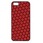 Red Passion Floral Pattern Apple iPhone 5 Seamless Case (Black)