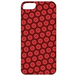 Red Passion Floral Pattern Apple iPhone 5 Classic Hardshell Case