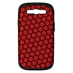Red Passion Floral Pattern Samsung Galaxy S III Hardshell Case (PC+Silicone)